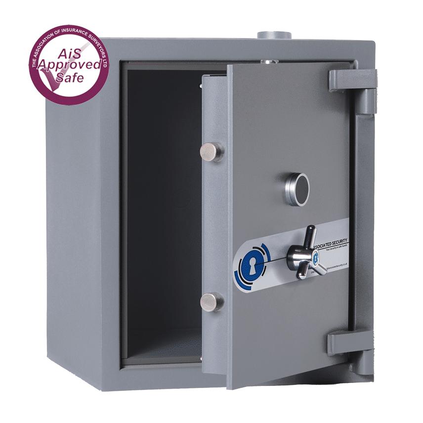 AS-2020-AiS-Insurance-Approved-Associated Security Capsule Deposit Safe - Door Open - Deposit Safe - Cash Safe - Commercial- Safe