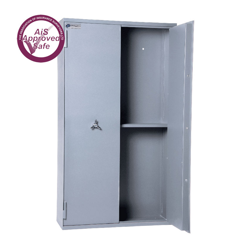 AS-2020-AiS-Insurance-Approved-Associated Security Secure Storage Cabinets Double Door Made In Britain
