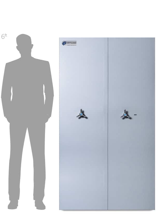 Antonio Medicine Cabinets Associated Security Secure Storage - Commercial Security - Door Closed-Made-in-Britain-AiS-Insurance-Approved - Double Door