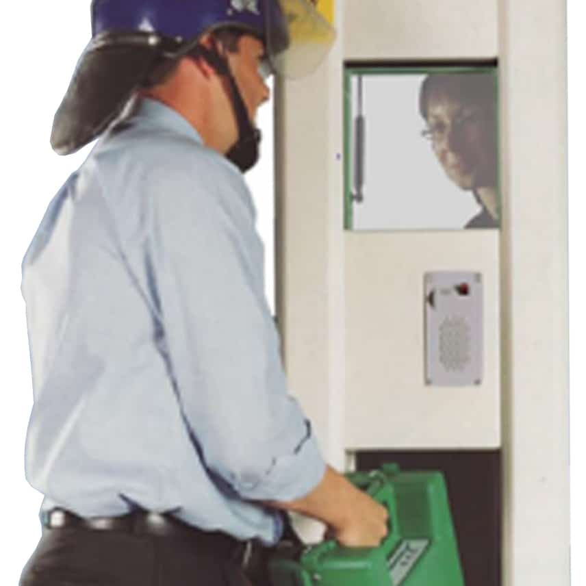 Associated Security - Rotary Cash Transfer Unit in use 2